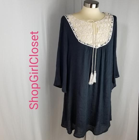 💥Just In💥Mottoshop Blue Guaze Dress..Size M